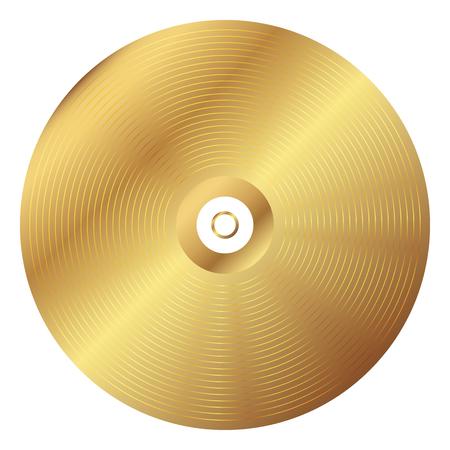 Vector illustration du disque vinyle or Banque d'images - 33545234