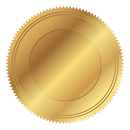 Vector illustration of gold seal Stock Illustratie