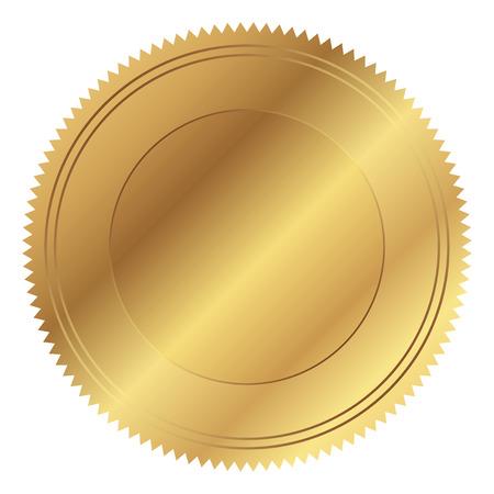 seal of approval: Vector illustration of gold seal Illustration