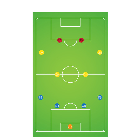 tactical: Vector illustration of soccer tactical set