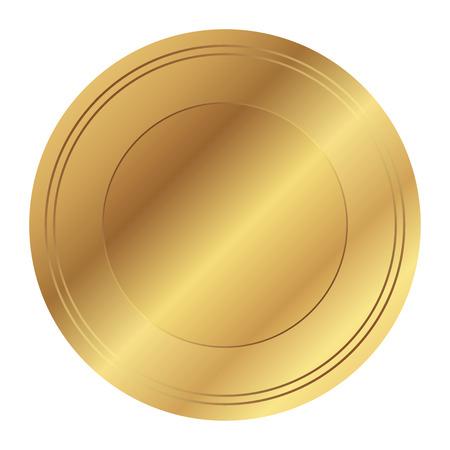Vector illustratie van gouden zegel