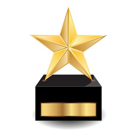 premios: Ilustraci�n del vector de estrellas medalla de oro Vectores