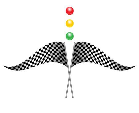 bandera carrera: Ilustraci�n del vector de la bandera de la raza Vectores