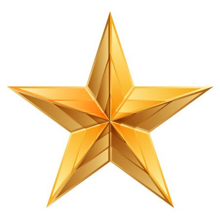 Vector illustration of gold star Illustration