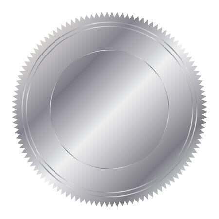 silver circle: Illustrazione vettoriale di cerchio in argento Vettoriali