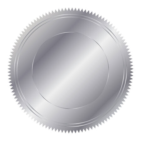 silver circle: Vector illustration of silver circle Illustration