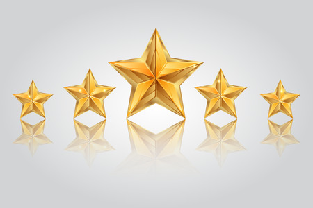 Vector illustration of Five stars