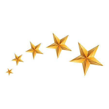 Vector illustration of gold stars