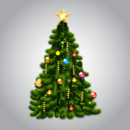 Vector illustration of christmas tree Vector