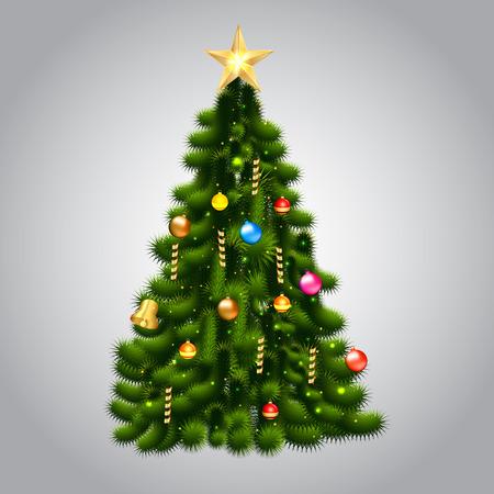 Vectorillustratie van kerstboom Stock Illustratie