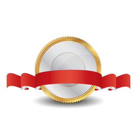 Vector illustration of gold seal 矢量图像