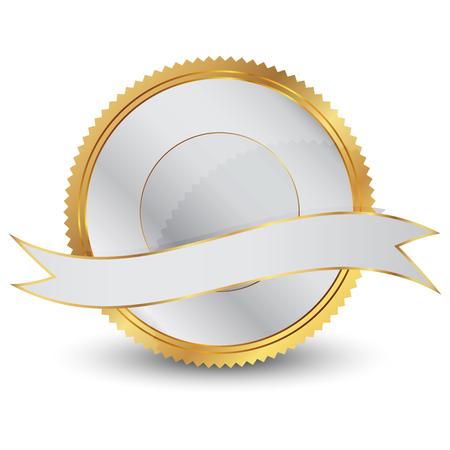 seal stamper: Vector illustration of gold seal Illustration