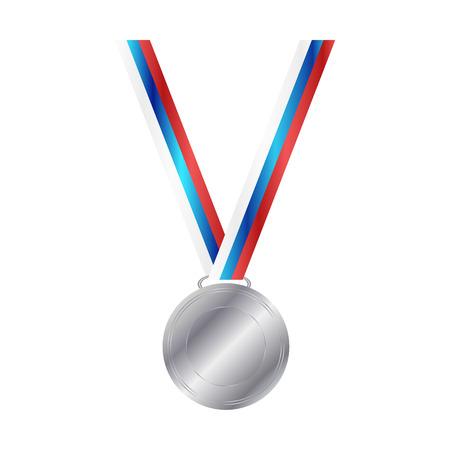silver medal: Vector illustration of Silver Medal Illustration