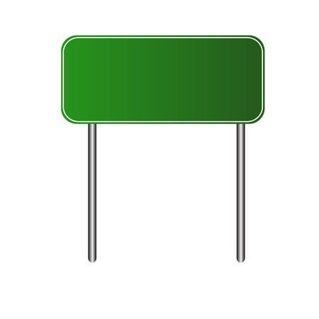 directional sign: Vector illustration of Blank Green Road Sign Illustration