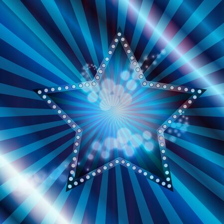 hollywood christmas: Vector illustration of blue star