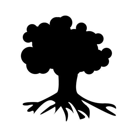 genealogical: Vector illustration of Tree