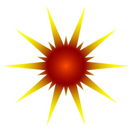 beam with joy: Vector illustration of sun