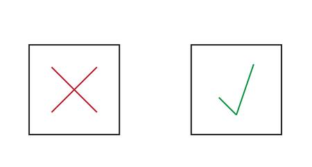 autoriser: Vector illustration de x et v Illustration