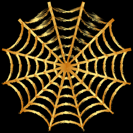 spinnennetz: Vektor-Illustration von Cobweb