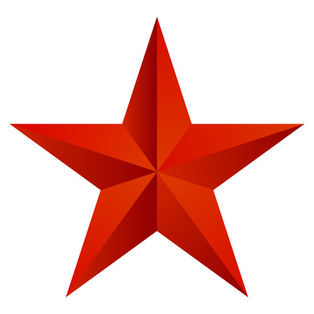 Vector illustration of red star 向量圖像