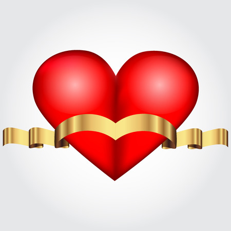 Vector illustration of Red Heart Vector