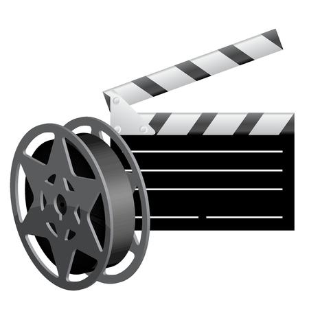 Vector illustration of Film reel Vector