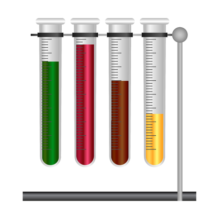 a substance vial: Vector illustration of Science template