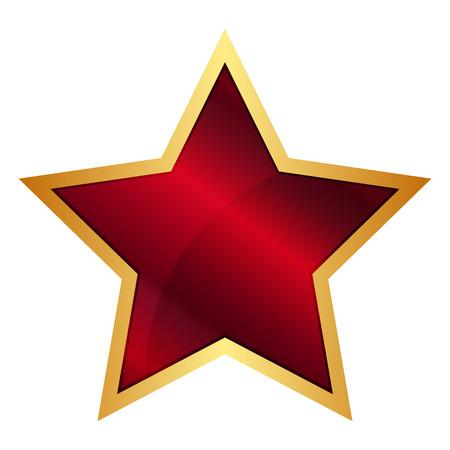 Vector illustratie van de Red Star