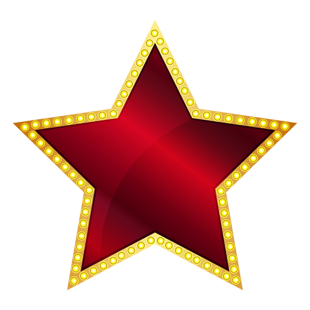 hollywood christmas: Vector illustration of Red Star