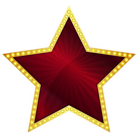 red star: Vector illustration of red star Illustration