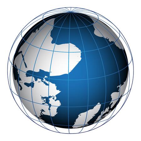 realist: Vector illustration of globe Illustration