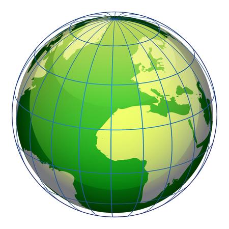 green globe: Vector illustration of green globe