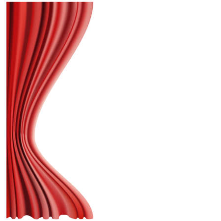 red curtain: Vector illustration of Red curtain