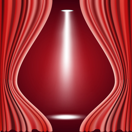 playhouse: Vector illustration of Red curtain
