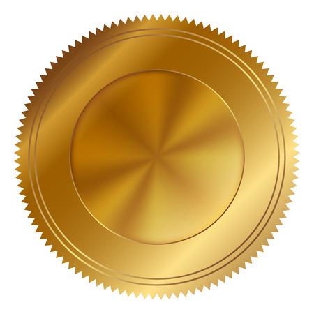 Vector illustration of gold seal Vettoriali
