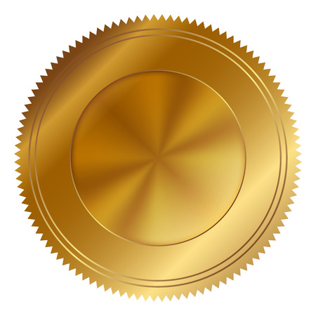 Vector illustration of gold seal Illustration