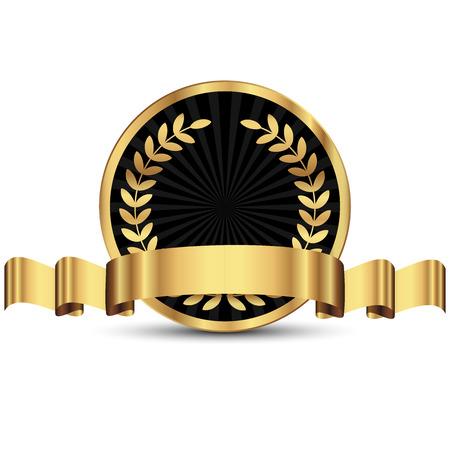Vector illustratie van gouden zegel Stockfoto - 40733237