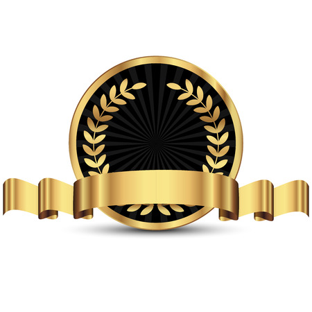 Vector illustration of gold seal Illusztráció