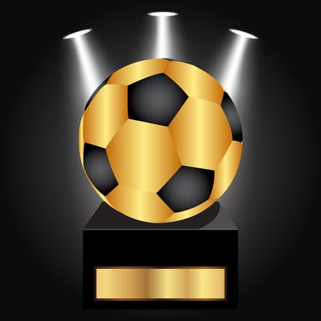 league: Vector illustration of Soccer Ball Award