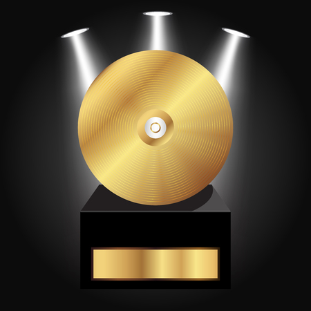 Vector illustration of Gold Disc Award
