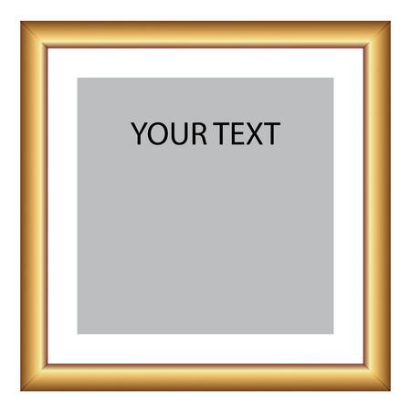 Vectorillustratie van gouden frame Stock Illustratie