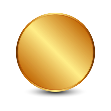 Vector illustration of Gold circle