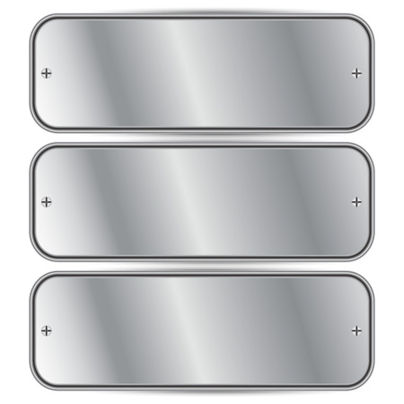 Vector illustration of Silver metal