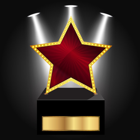star award: Vector illustration of star award