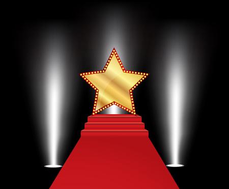 Vectorillustratie van gouden ster Stock Illustratie