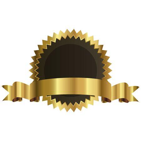 promising: Vector illustration of gold seal Illustration
