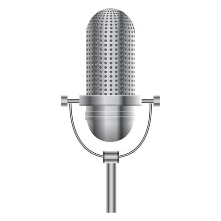 scenical: Vector illustration of Microphone
