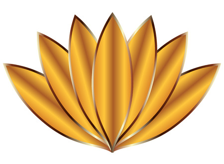 Vector illustration of Gold Lotus