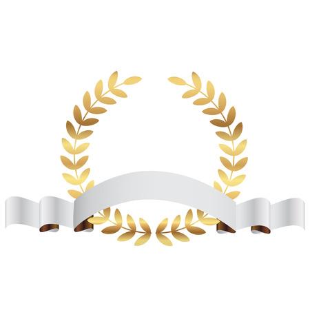Vector illustratie van goud lauweren