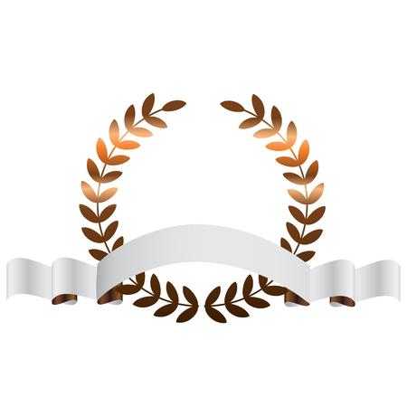 Vector illustratie van de Bronzen bladeren Stock Illustratie